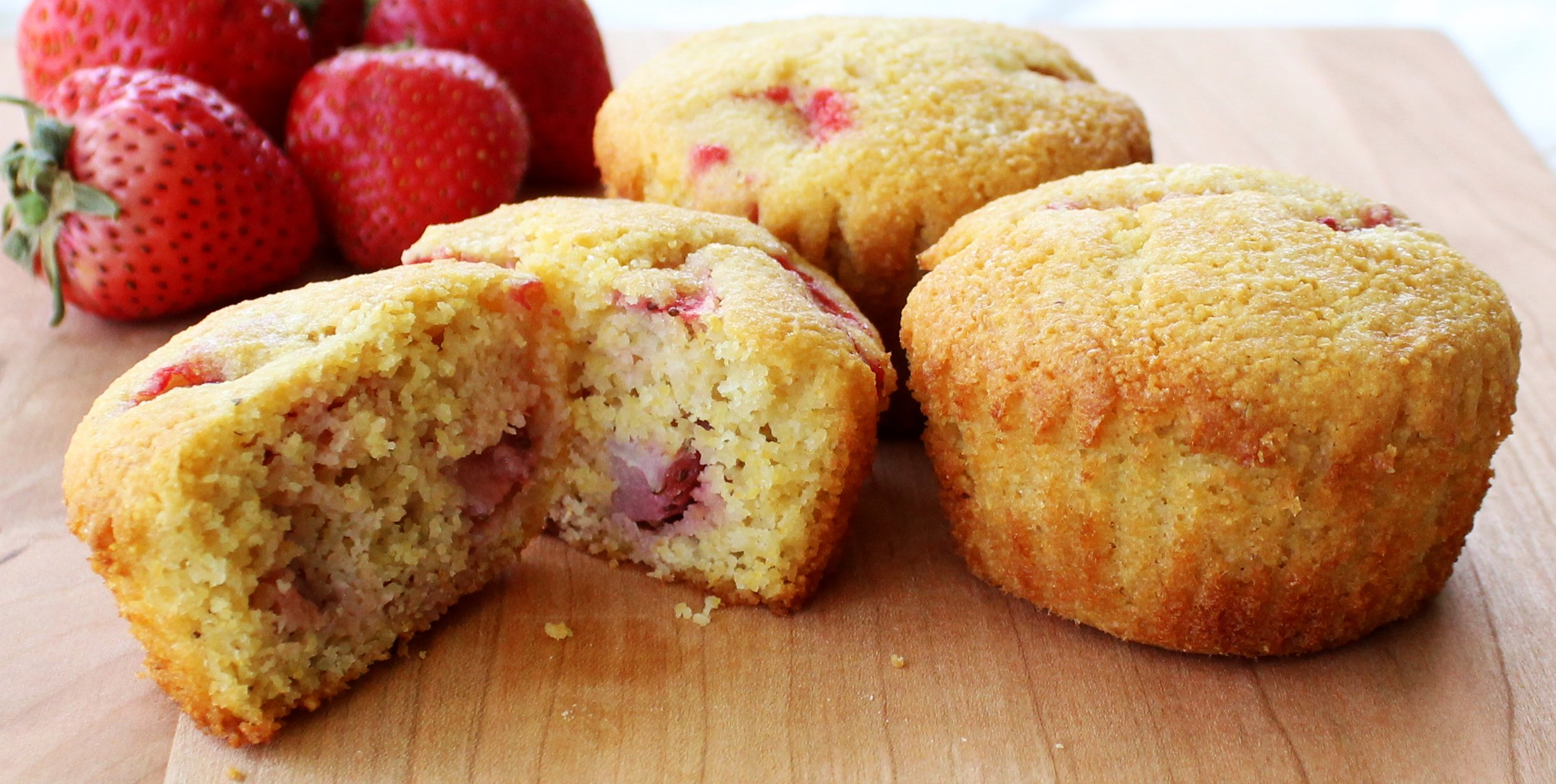 Strawberry Corn Muffin
