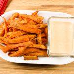 Sweet Potato Fries with Sriracha Cilantro Aioli
