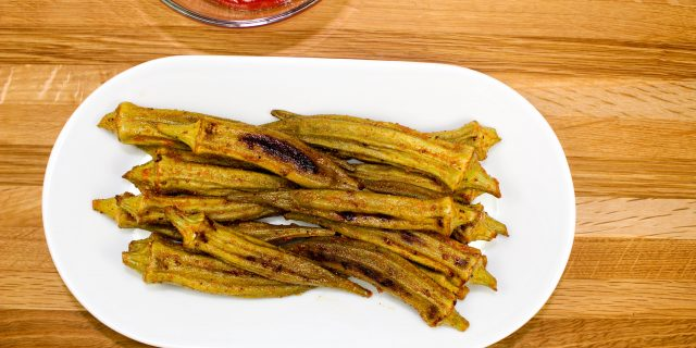 Cajun Baked Okra is the perfect side dish for any meal! Packed with Cajun seasonings, crispy, and easy to make. Healthy alternative to fried okra! Weight Watchers friendly (4 SmartPoints).