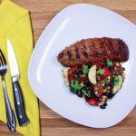 Steak & Grilled Corn Zucchini Salad