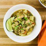 Chicken & Veggie Green Curry Soup