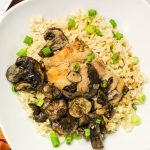 Slow Cooker Adobo Chicken and Mushrooms