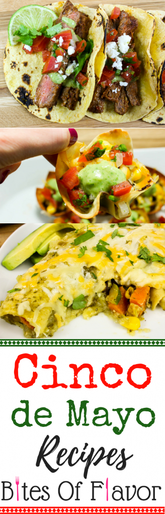 Healthy Cinco de Mayo Recipes- The perfect list of healthy recipes for Cinco de Mayo. All recipes are Weight Watchers friendly, easy to make, & delicious! www.bitesofflavor.com