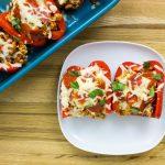 Turkey Pizza Stuffed Peppers