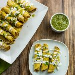Baked Chicken & Cheese Taquitos