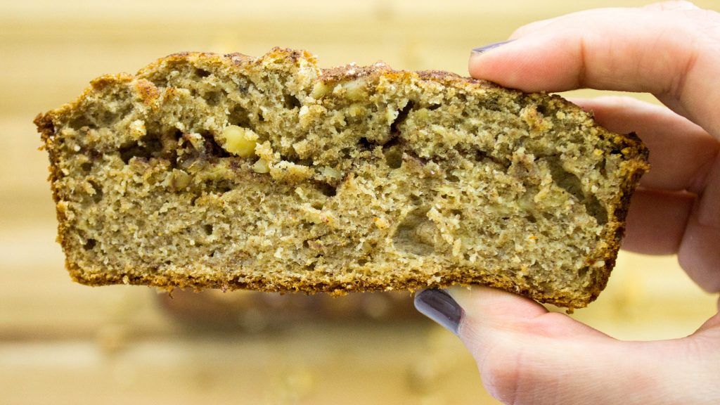 Cinnamon Banana Nut Bread is classic banana bread with a twist. Healthy version of banana bread with a cinnamon swirl in the middle! Weight Watchers friendly recipe! www.bitesofflavor.com