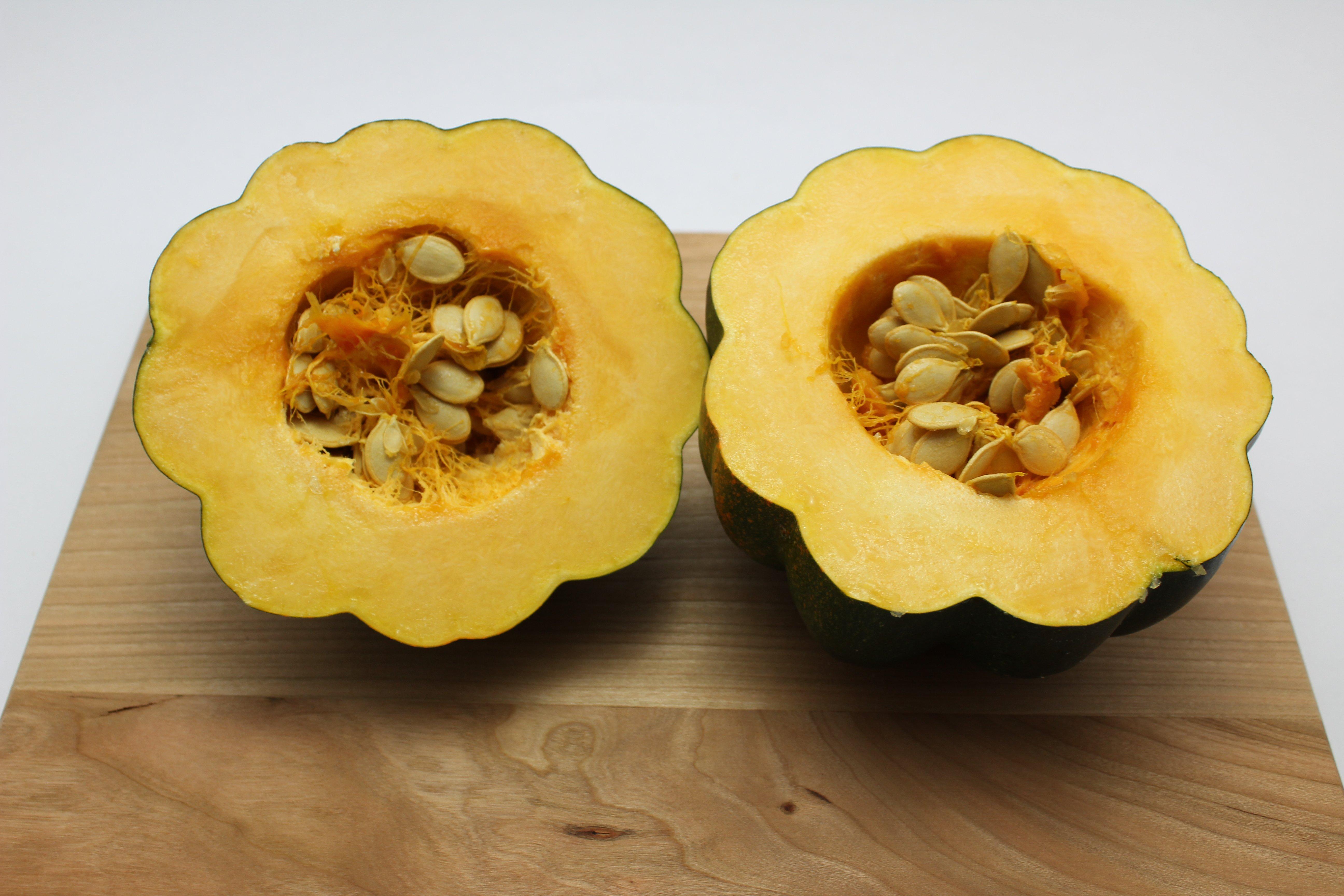 cut acorn squash