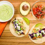 Skillet Fish Tacos with Avocado Crema