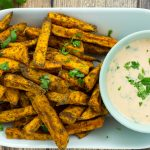 Sweet Potato Fries with Sriracha Aioli