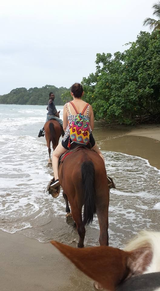 My husband took this picture of me on the horse. This was my first time to go horseback riding!