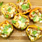 Mexican Spiced Pulled Pork Stuffed Peppers