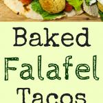 Baked falafel in a tortilla
