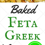 Baked french fries topped with feta cheese and served with a side of homemade tzatziki sauce
