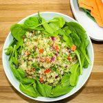 Quinoa Tabbouleh Spinach Salad
