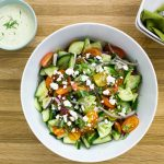 Cucumber Tomato Salad with Herb Vinaigrette