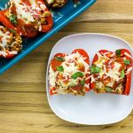 Turkey Pizza Stuffed Peppers