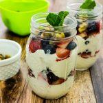 Red White & Blueberry Yogurt Trifle