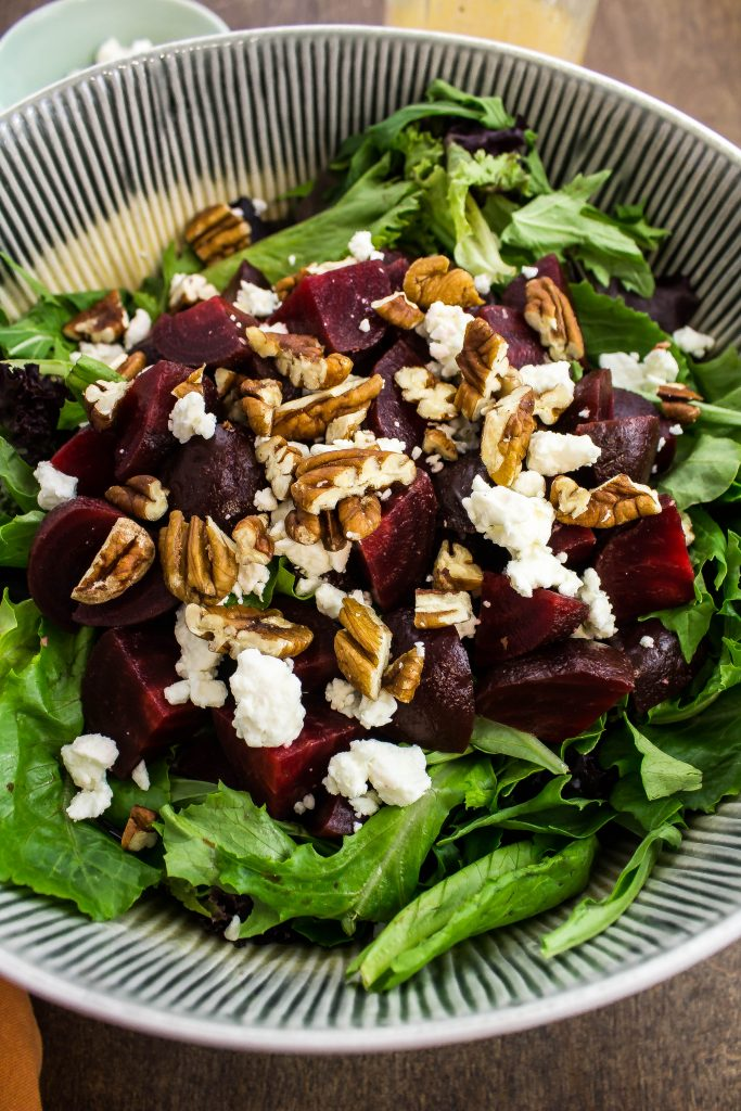Roasted Beet & Feta Salad-Perfect Weight Watchers friendly salad.