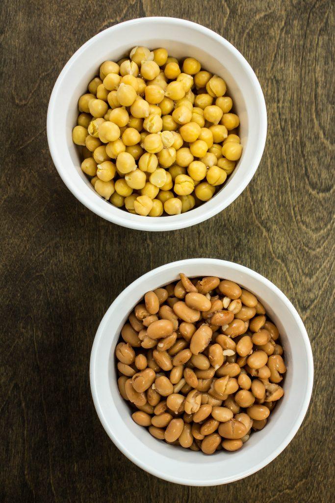 Pinto beans & garbanzo beans for Turkey Bean Chili