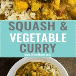 Roasted butternut squash, chickpeas, baby spinach, and cauliflower coated in a decadent tomato curry sauce served over rice