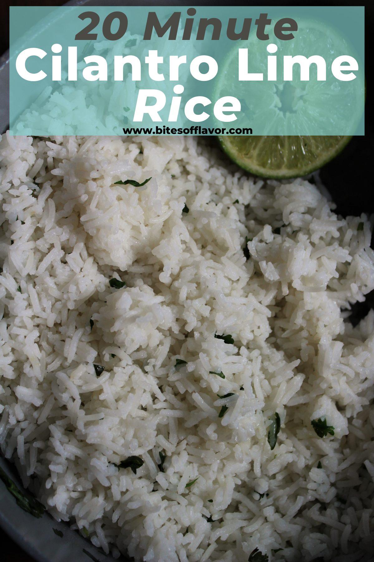 20 Minute Cilantro Lime Rice