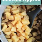Diced fuji apples cooked in water and cinnamon